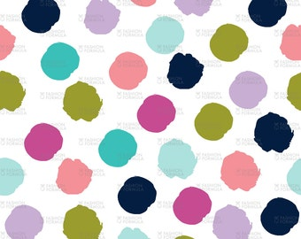 Spots - Good Cheer Fabric by littlearrowdesigncompany - Cotton/ Polyester/ Jersey/ Canvas/ Digital Printed