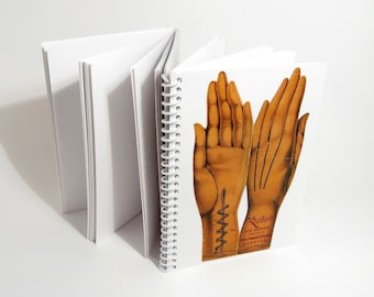 Kids Gloves and Hand Lines Folded 3 Parts Notebook - A6