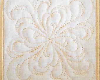 Trapunto Quilt Block Machine Embroidery Design- block10