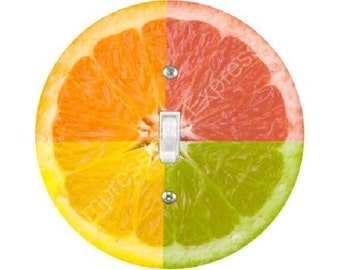 Funky Grapefruit Fruit Single Toggle Switch Plate Cover