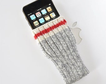 Hand Knit iPhone / iTouch Cozy Case - Take A Hike Sock Design