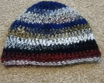 Multi-colored fitted Beanie