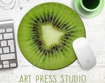 Kiwi Slice Mousepad, Tropical Kiwi Fruit Mouse Pad, Fruit Mousepad, Vegan Mouse Pad, Vegan Gift, Food Mousepad, Foodie
