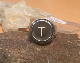 T adjustable typewriter key ring
