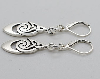 Sterling Silver Lever Back Earrings S07