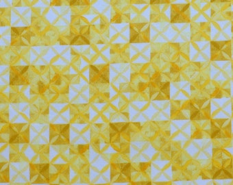 Liberty fabric Tana Lawn Potter's Quilt- 9''x26'' Fat Eighth - Yellow - Seasonal Collection