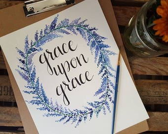 Grace Upon Grace Handmade Watercolor