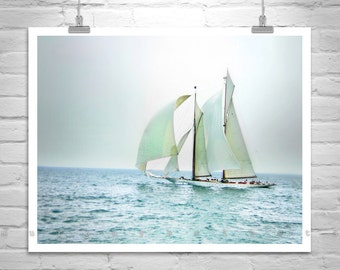 Sailboat Print, Sailing Art, Sailboat Picture, Sailboat Photograph, Sailing Decor, Nautical Decor, Gift for Sailor, Sailing Print, Ocean Art