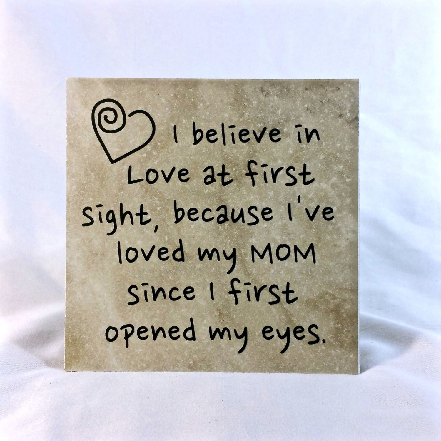 Believe In Love Quotes I Believe In Love At First Sight Saying Quote 6 X 6 Tile
