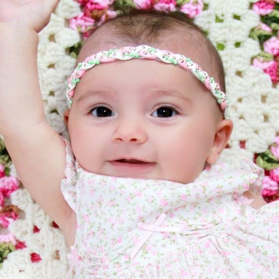 Pink Baby Headband, Suede Headband, Mint Headband, Pink Headband, Braided Headband, White Headband, Newborn Headband, Pearls Headband