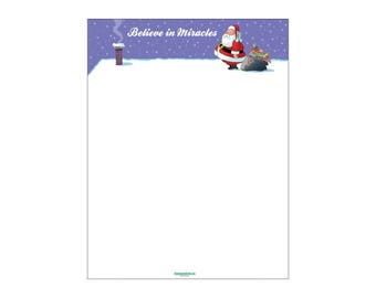 Christmas Stationery - Funny Holiday Letterhead -8.5 x 11 inches - 80 Paper Sheets - 6501