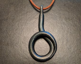 Hand Forged Ring Necklace