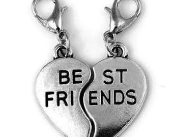 Best Friends Charm set - 2 charms - Clip-On - Ready to Wear