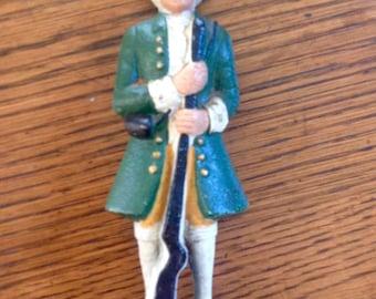 Revolutionary War Minuteman Cast Iron Bookend, Doorstop