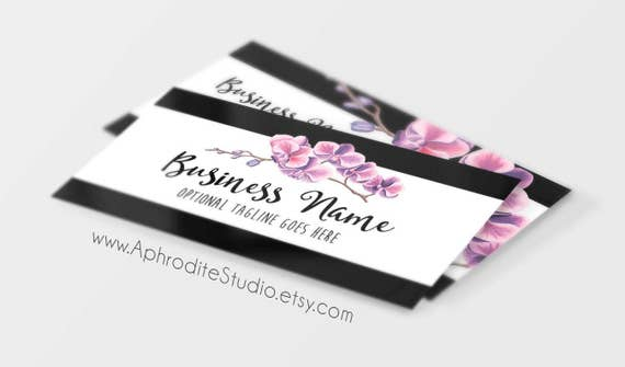 Floral business cards flower business cards printable like this item mightylinksfo