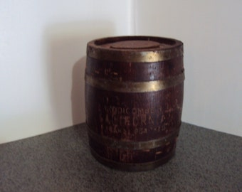 Small Vintage Barrel From California