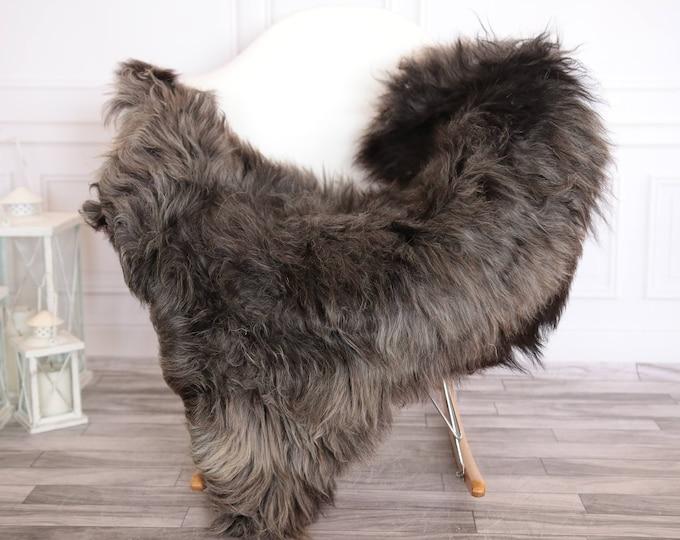 Organic Sheepskin Rug, Real Sheepskin Rug, Gute Sheepskin, Gray Brown Sheepskin Rug #GUTEFEB10