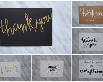 Hand Lettered Thank You Greeting Cards