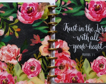"Happy Planner Cover Set: ""Trust In The Lord "", 10mil Laminated"