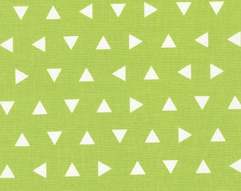 Remix Lime Triangles by Ann Kelle for Robert Kaufman