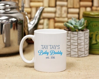 Personalized Coffee Mug, Custom Coffee Mug, Baby Daddy, Father's Day Gift, Gift for Dad, Baby Shower Gift, Coffee Lover Gift