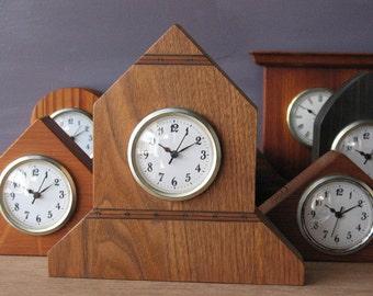 clock - small clock - butternut -natural wood - desk clock - mantle clock - handmade clock
