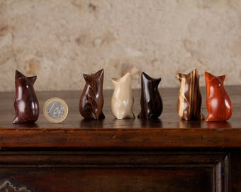 CARVED TO ORDER - Upright Tiny Mouse Sculpture, Choice of Wood, Hand Carved by Perry Lancaster