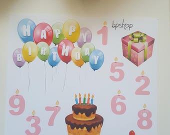 Planner Stickers Birthday