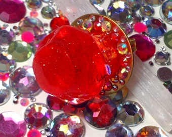 Cherry Candy Rock Ring
