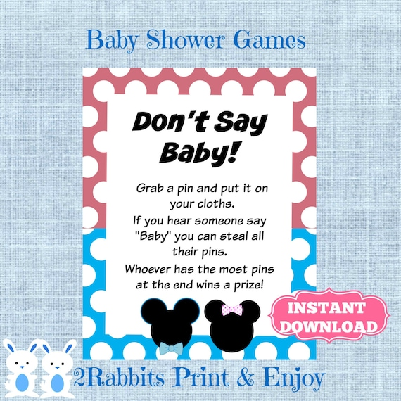 Mickey And Minnie Mouse Twins Dont Say Baby Game Gender