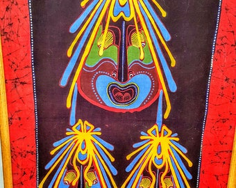 Indonesian Batik Painting/Panel     Bali Art   Vintage collector's Item