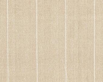 """72"""" Shower Curtain, Copley Stripe Oatmeal Beige, Unlined"""