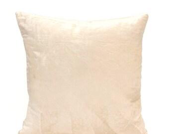 Cream Velvet Pillow Cover Cream Velvet Minimalist Pillow Velvet Throw Pillow Velvet Lumbar Pillow Cream Euro Sham Modern Decor Cream Pillow