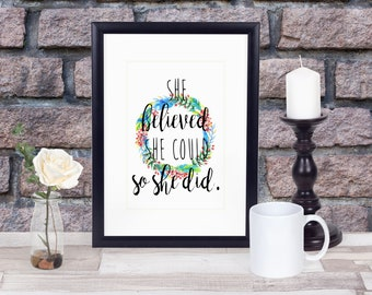 She Believed She Could Matted Print