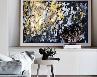 "Original handmade painting - abstract contemporary art - ""peaceful gold"""