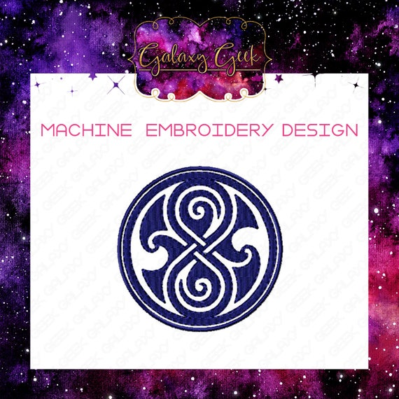 Doctor Who Embroidery Design Dr Who Machine Embroidery Gallifrey