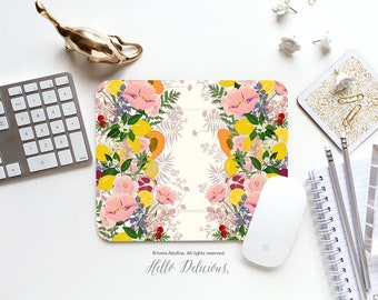 Mouse Pad Lemon Mouse Pads Office Gift Mousepad Fruit Floral Mouse Pad Summer Mousepad Mousepad Mouse Mat Rectangular Mousepad Round 140.
