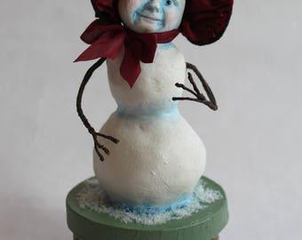 Coffret de Noël de sculpture de neige fille par William Bezek