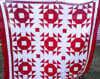 Red & White Quilt Top