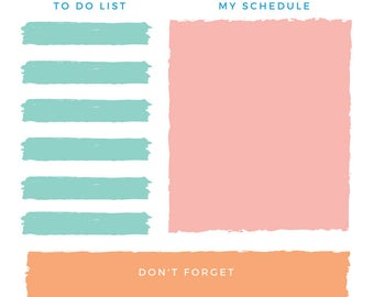 A4 Daily Planner