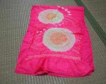 Pink flower Hekoobi / obi belt for kimono /scarf