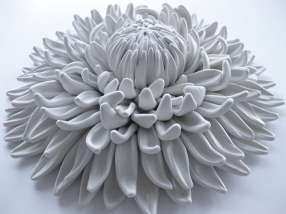 Dahlia Closed Bud Wall Sculpture