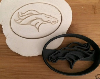 Denver Broncos Cookie Cutter- 3D Printed Plastic