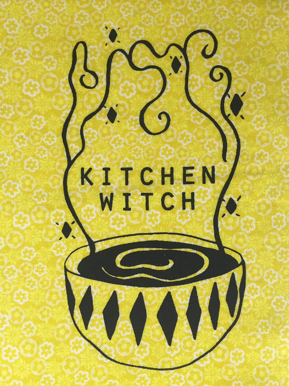 Küche-Hexe Siebdruck-patch
