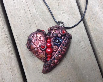 Heart shaped pendant - boho