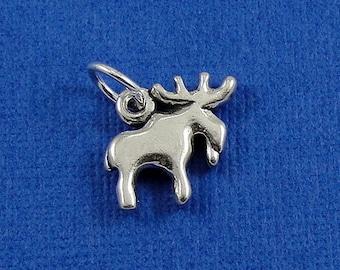 Moose Charm - Sterling Silver Moose Charm for Necklace or Bracelet