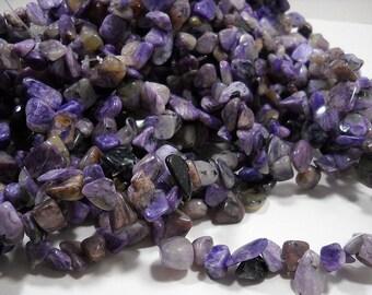 Purple Rhyolite Jasper Nugget Chip Beads 8mm - 16mm