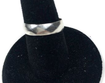 "Sterling ESPO Ring / Silver Wedding Band / Size 5 / Signed ""Sterling-ESPO"""