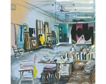 A3 A Painter's Place - Fine Art Giclee Print