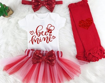 Valentines Day Baby Girl Outfit Valentines Day Dress Girls